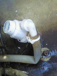 ライブウェル排水詰まり。