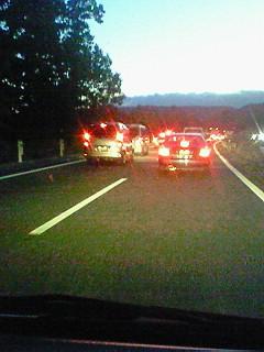 事故渋滞。