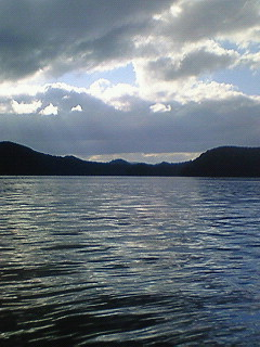 野尻湖寒いよー。