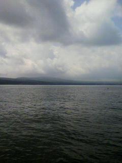 今日も山中湖。