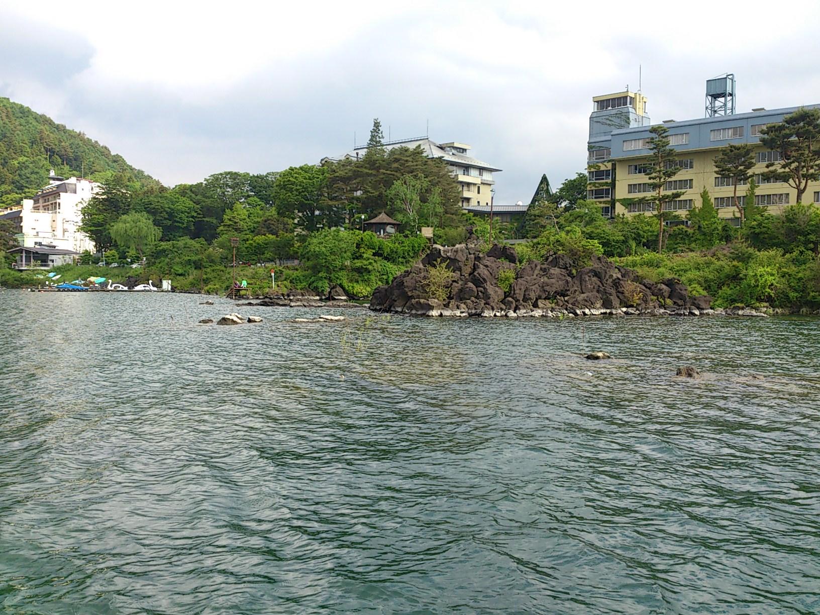河口湖の水位。
